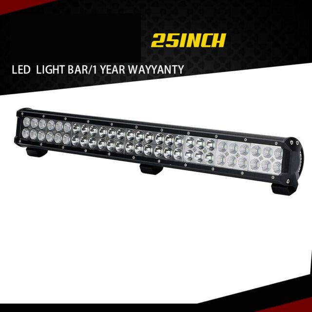 25inch 162W Flood Spot Combo LED Work Light Bar Dual Row Waterproof Car