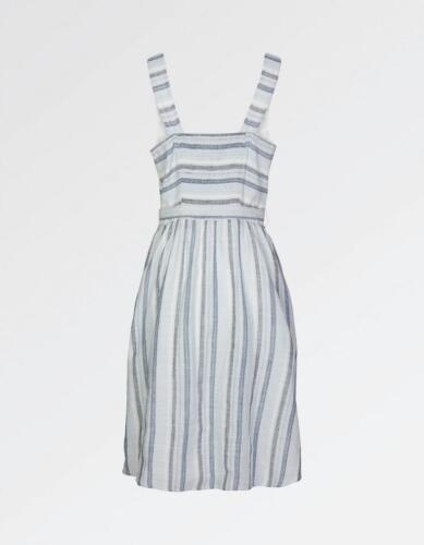 RRP £45 Fat Face Serena Stripe Dress Blue-Chambray