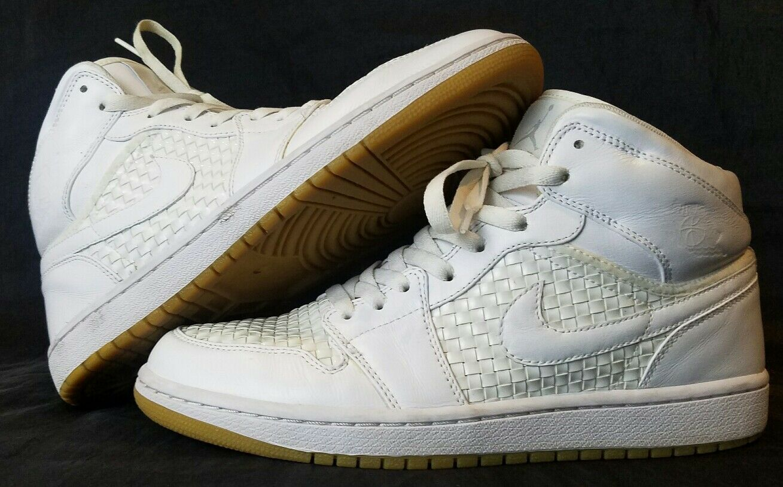 Nike Air Jordan I Retro 1 PREMIER WHITE METALLIC PLATINUM GREY GUM OG 9