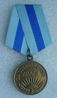 USSR Soviet Union Russian Military Collection Medal For the Liberation of Prague