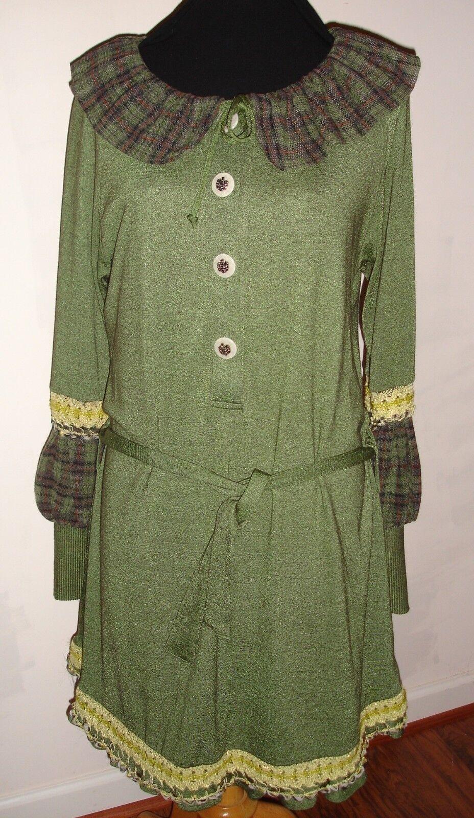 NUVULA ORIGINAL DESIGN GREEN DRESS BELT L DIFFERENT DIFFERENT DIFFERENT GORGEOUS     23d685