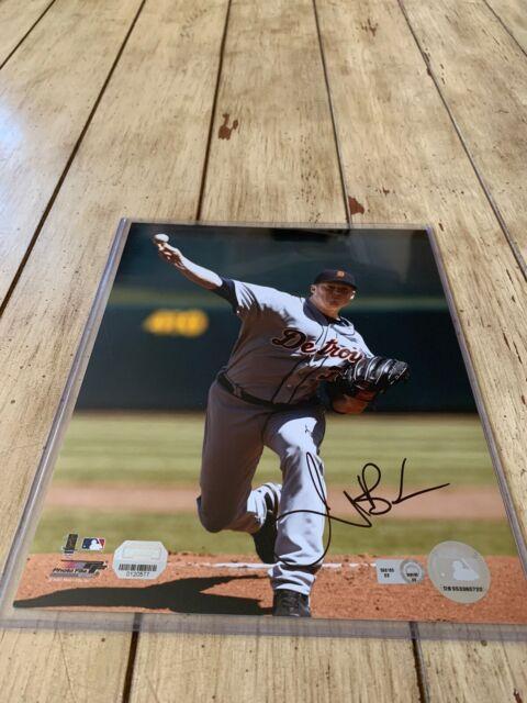 Jeremy Bonderman Autographed/Signed 8x10 Photo Detroit Tigers