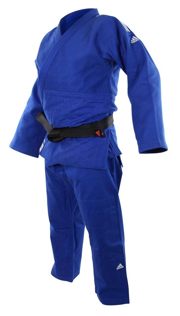 Adidas Judoanzug  CHAMPION II  IJF blau weiße Streifen JIJFB  Judo