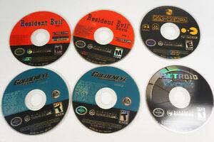 4-Nintendo-Gamecube-Game-Disc-Only-Lot-Metroid-Prime-2-Golden-Eye-Resident-Evil