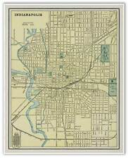 "George Cram INDIANAPOLIS Indiana City Old Street Atlas MAP circa 1901 24"" x 30"""