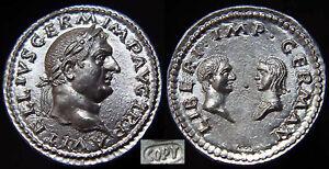 VITELLIUS-69-AD-Silver-Denarius-3-40gr-Vitellia-amp-Vitellius-Germanica-Superb
