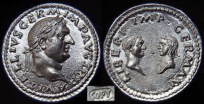 3.40gr *vitellia & Vitellius Germanica Superb Can Be Repeatedly Remolded. Motivated Vitellius-69 Ad Silver Denarius