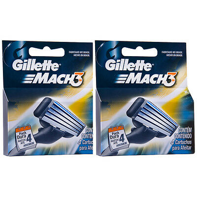8 Count Gillette Mach3  Razor Blade Refill Cartridges for Mach 3 Razor
