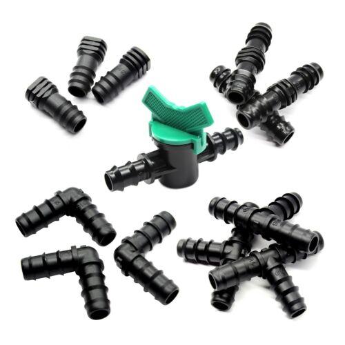 """falegname GOMITO valvola 16mm T Sistema di Irrigazione Giardino Tubo dell/'acqua 1//2/"""" SPINA"""