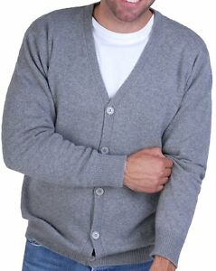 Balldiri Cashmere Jacket Cardigan Grey 4ply Xl Men 100 ngnOPS