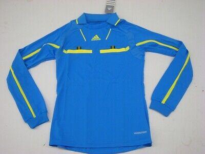 Adidas Arbitre Maillot Arbitre Femmes à Manches Longues Tee Shirt Bleu P49154   eBay