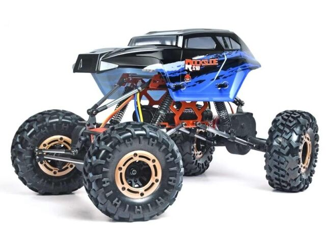 Redcat Racing Rockslide RS10 XT BLACK BLUE 1/10 Scale RC Crawler 2.4GHz