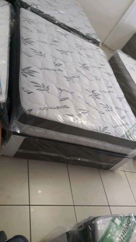 Top of the range bamboo euro  top double beds for sale