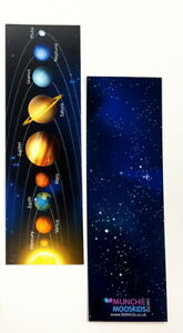 Pack of 12 - Space Solar System Bookmarks - Party Bag Fillers Teacher School
