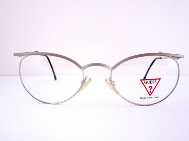 1984b902e5cf GUESS GU390 MSSS Silver Eyeglasses Frame Italy With Case NOS for ...