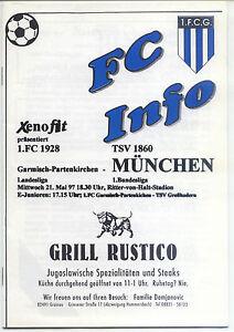 21.05.1997 1 FC Garmisch-Partenkirchen TSV 1860 München