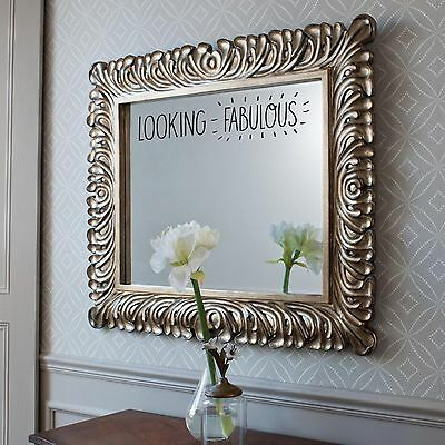 LOOKING FABULOUS MIRROR STICKER Bathroom Bedroom Funny Compliment Cute Wall Art