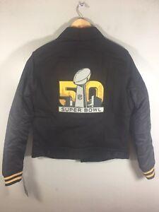 fe19a220 Levi's Denver Broncos Super Bowl 50 Jacket Women's Medium Black Jean ...
