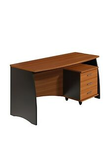 Mesa de despacho con cajonera escritorio para oficina clásica ...