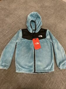 New-The-North-Face-Girls-OSO-HOODIE-Fleece-Windmill-Blue-Size-2T-4T-5-6