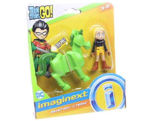 Beast Boy /& Terra ~ Fisher-Price ~ Neuf sous emballage IMAGINEXT DC Teen Titans Go
