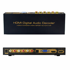 HDMI Digital Audio HDMI to HDMI + VGA + SPDIF 5.1CH HP Converter Adapter Decoder