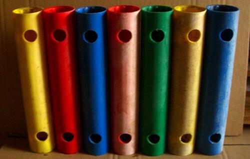 1x gebraucht 25 cm Rohr QUADRO Rohre ROT-BLAU-GRÜN-GELB 00522 00523 00524 00525