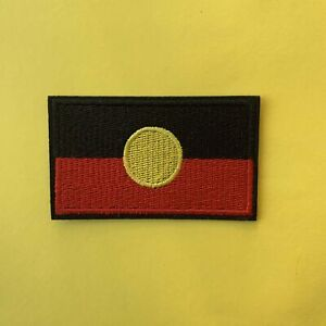 Australian-Aboriginal-Indigenous-Flag-Iron-On-Patch-Embroidered-Badge