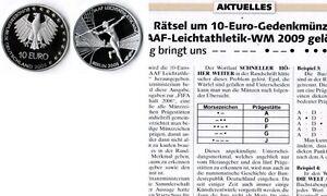Deutschland-Eurowahrung-5-mal-10-Euro-Leichtatletik-2009-Munzzeichen-ADFGJ