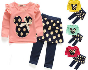 2pcs-Toddler-Baby-Girls-Minnie-Outfits-T-shirt-tops-Pants-Kids-Clothes-set