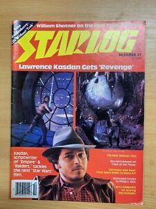 Oct-1981-Starlog-Revue-51-Science-Fiction-William-Shatner-sur-Neuf-Star-Trek
