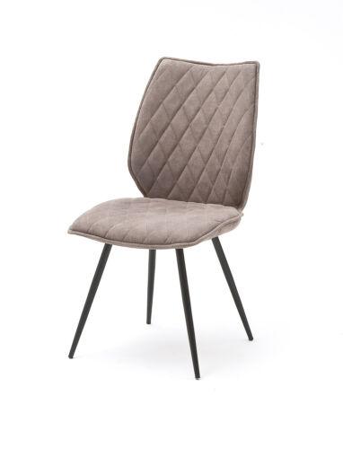 MCA 2er Set 4-Fuß Stuhl Navarra Antiklook Sand Küchenstuhl Esszimmerstuhl