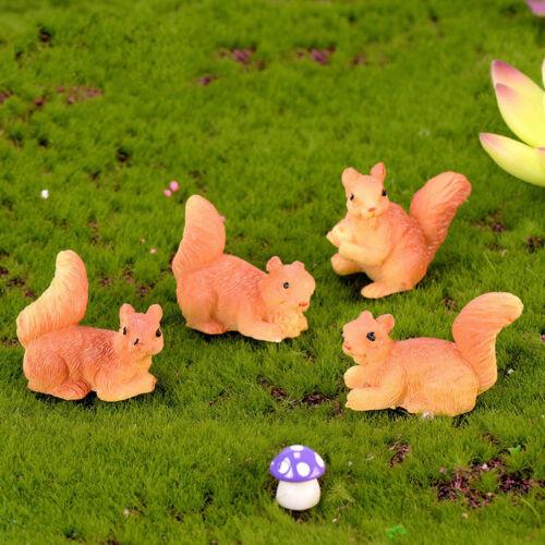 Cute Squirrel Miniature Figurine Fairy Garden Dollhouse Decor Micro Landscape  F