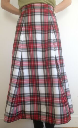 90 cm length sizes 4-30 Tartan Plaid Royal Stewart A-line 6 panels Skirt ladies