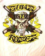 GUNS N' ROSES cd lgo SKULL SHOTGUN Official White SHIRT XL New appetite