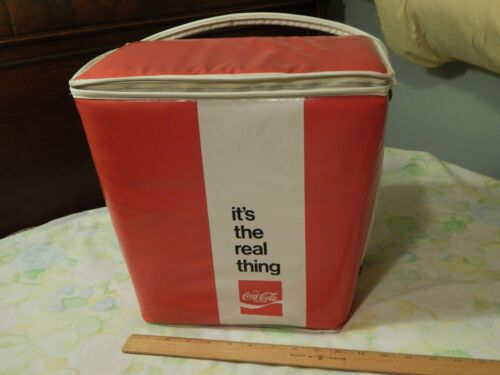 "'60s COCACOLA COKE ""It's The Real Thing"" Vinyl Cooler by Prepac NYC USA Ltd"