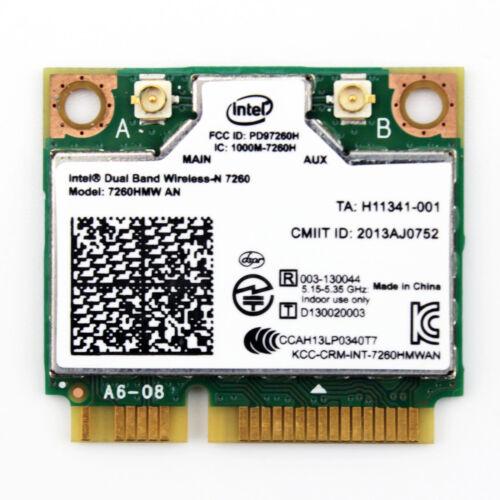 New Intel Wireless-N Mini-Card Dual Band WIFI Bluetooth BT 4.0 7260HMW-AN