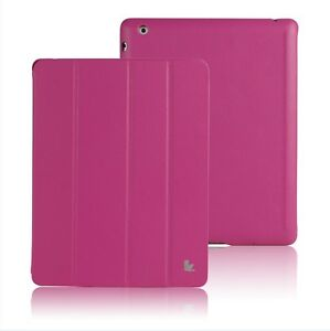 Jisoncase-Hot-Pink-High-Quality-Micro-Fiber-Case-Cover-For-Apple-iPad-2-and-3rd