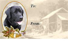 Labrador Retriever Christmas Labels by Starprint - No 3