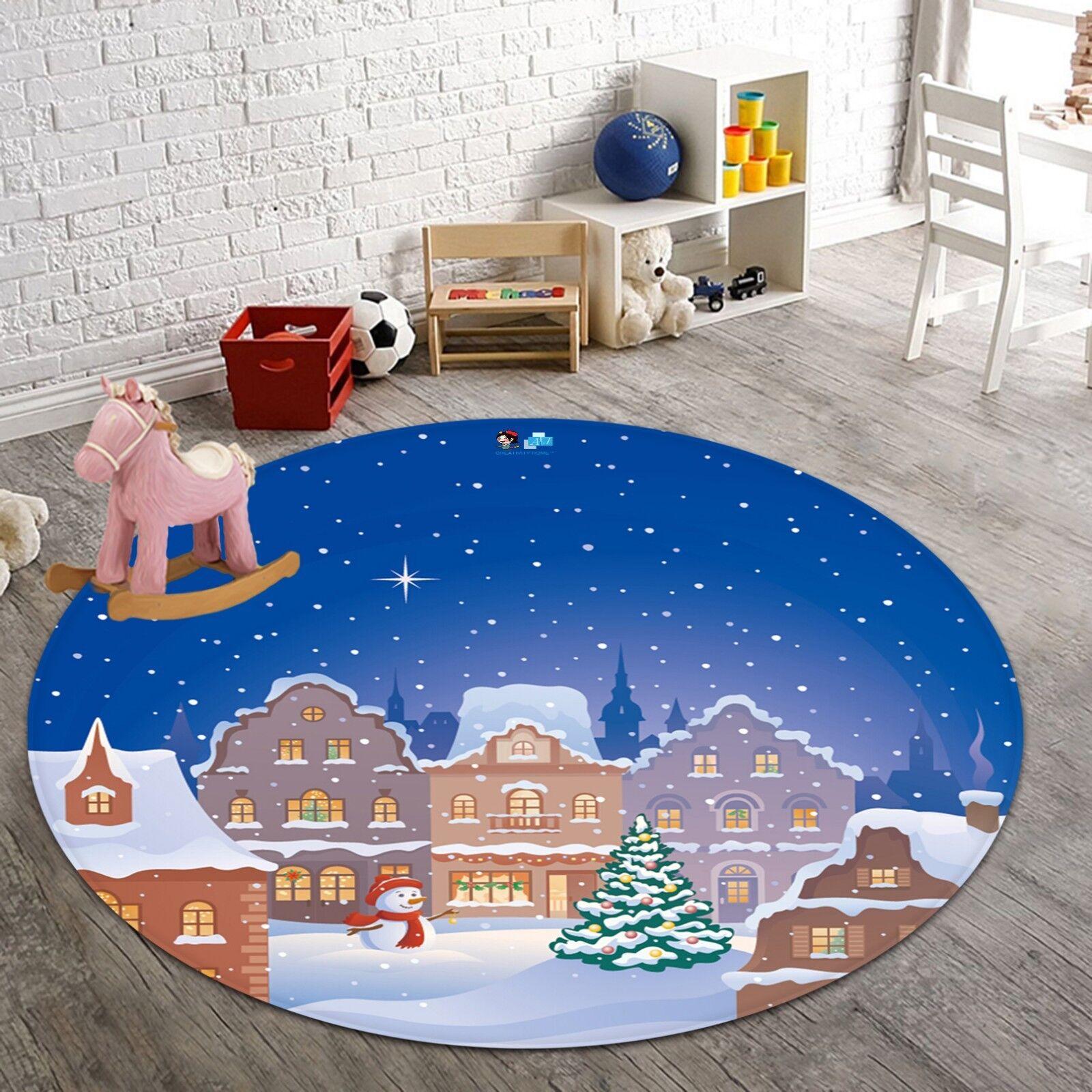 3D Christmas Xmas 99 Non Slip Rug Room Mat Mat Mat Round Quality elegant photo carpet AU a43934