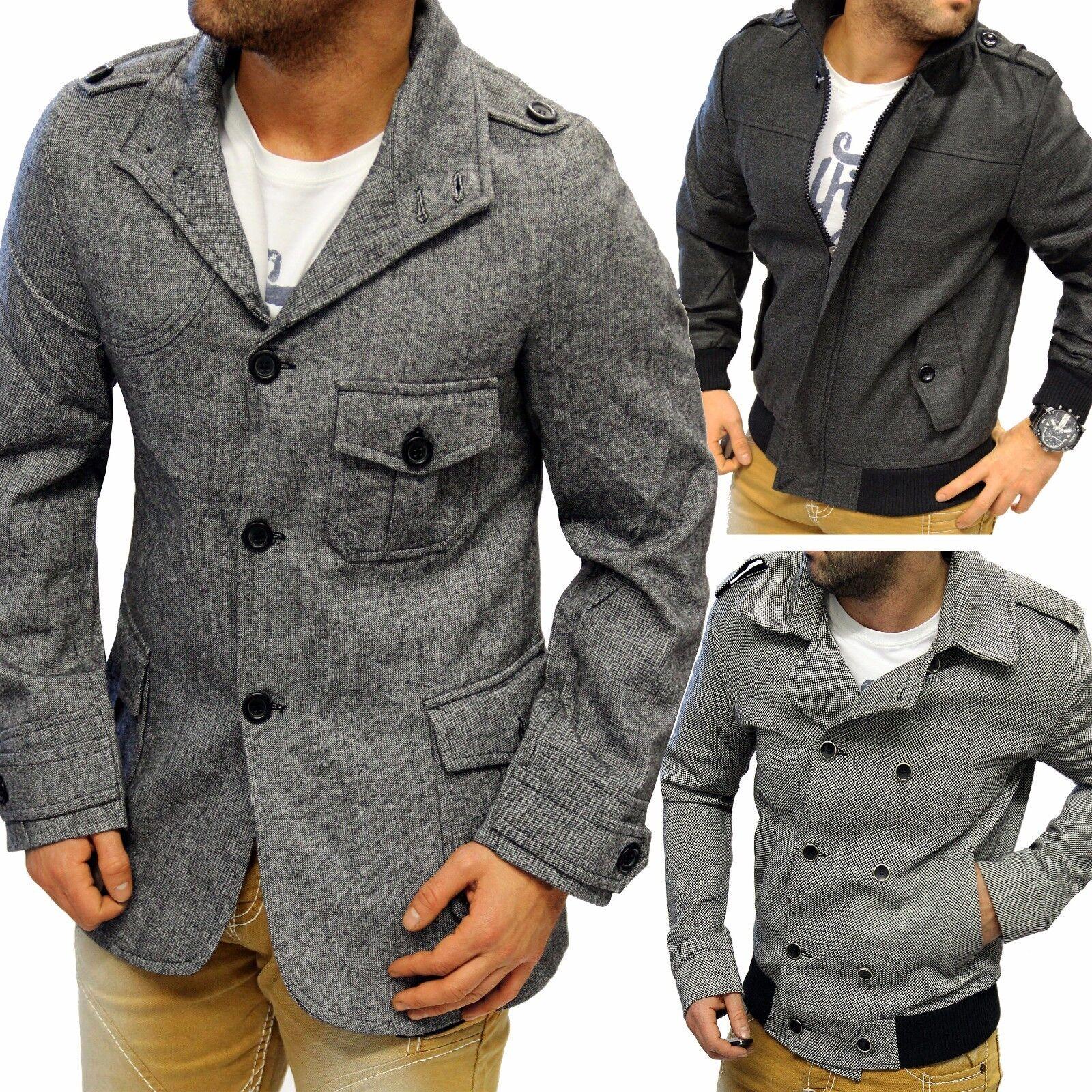 Jeel hombre chaqueta de invierno abrigo Textil Cazadora cálido Gabardina