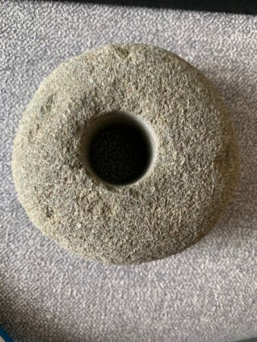 2019 Large Rock with Hole Hag Stone Necklace Pendant Roman Mandala Painting