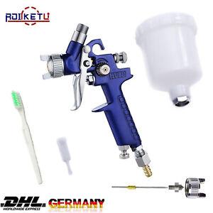 MINI HVLP Lackierpistole Spritzpistole Druckluft Spraypistole Sprühpistole 0,8mm