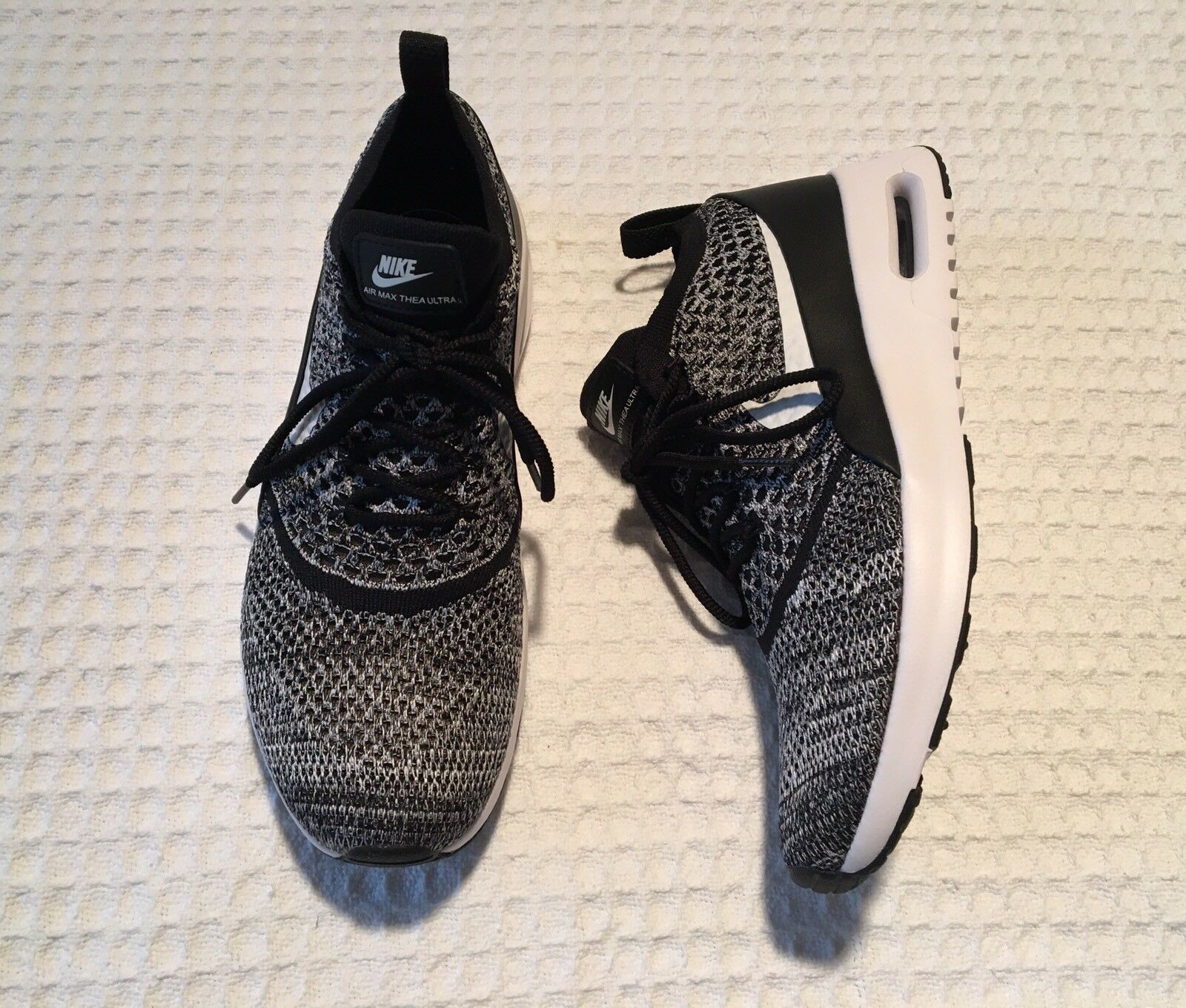 new NIKE Air Max Thea Ultra FK Sneakers Running Shoes Black White 10 ... b1e3f77709c