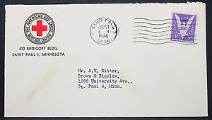 American-Red-cross-US-Adv-Cover-Saint-Paul-Patriotic-War-Stamp-USA-Letter-Y-544