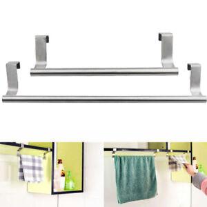 Over-Door-Tea-Towel-Holder-Rack-Bathroom-Rail-Cupboard-Hanger-Kitchen-Hook-HID