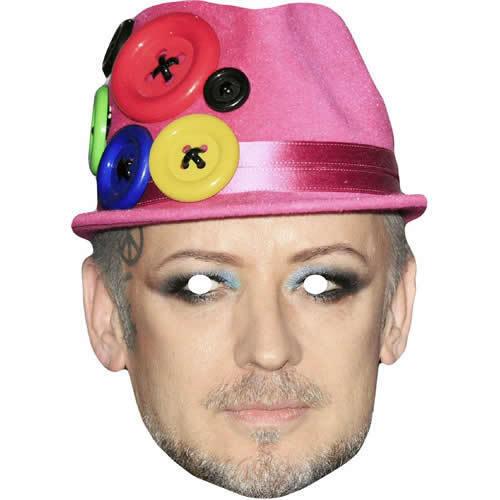 BOY GEORGE Celebrity CANTANTE cultura Club Card Mask-tutte le maschere sono pre tagliati
