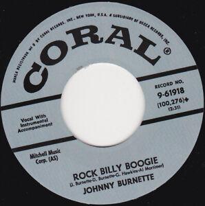 "JOHNNY BURNETTE - Rock Billy Boogie   7"" 45"