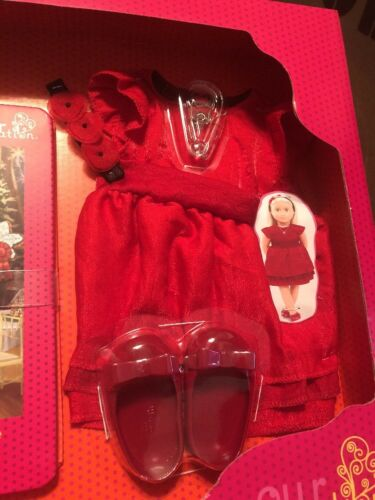 "Our Generation Clothing Read And Play Set Ginger Red Dress for 18/"" Dolls"