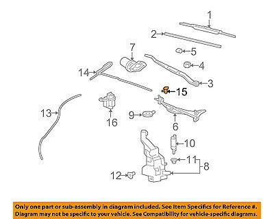 OEM NEW Windshield Wiper Washer Nozzle Single 08-15 CTS Genuine 25815793